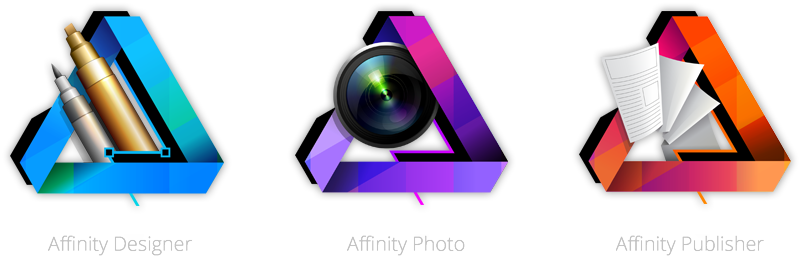 Affinity Designer, Photo, and Publisher