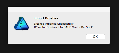 How to install your DAUB vector brush set