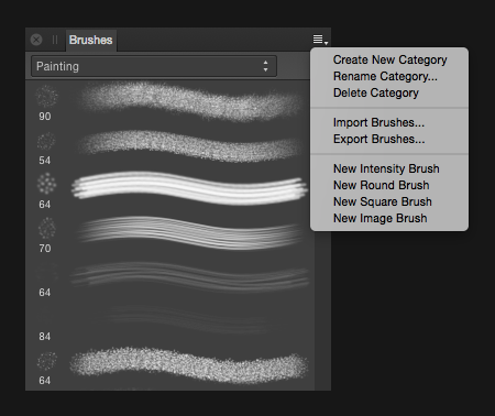 How to import your DAUB brush set